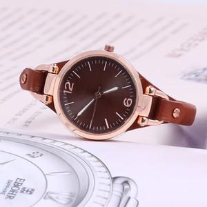 Arbeiten Sie heiße Verkaufs-Foss-Uhr für Armband-Silber- / Rosegold der Frauen / Mannliebhaber echtes Leder viele Farben Dame Uhren um freies Verschiffen