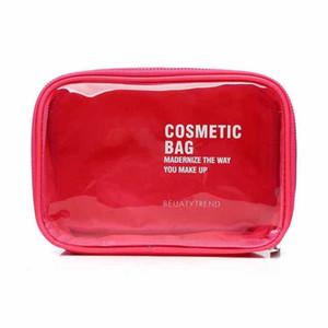 De alta Calidad Transparente Impermeable PVC Bolsa de Cosméticos Sobre Recibir Bolsas de Aseo Bolsa de Maquillaje Maquillaje Organizador 4Colores Para Elegir