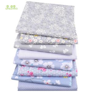 El yapımı DIY Yorgancılık Dikiş Tekstil Malzeme Of 8pcs / lot, Yeni kabartılmış pamuk Kumaş Patchwork Gri Doku Kumaş Yağ Çeyrek Paketi