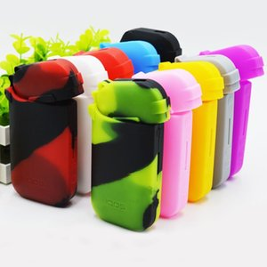 Colorful IQOS Silicone Rubber Sleeve Protective Anti Scratch Cover Skin Case Bag For IQOS Electronic Cigarette High Quality Hot Sale DHL