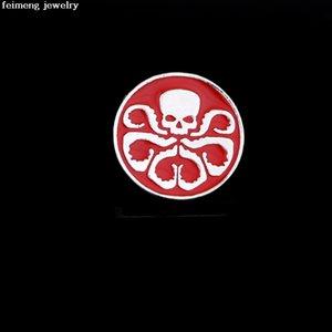 Kırmızı Emaye Pimleri Hot Movie Marvel'in Acenteleri S.H.I.E.L.D. Broş Moda Kafatası HYDRA Cosplay Takı Bez Şapka Dekor Aksesuarları
