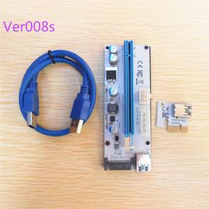 Nuovo 60CM PCI PCIE Express PCI-E da 1X a 16X Riser Card Extender 6 pin Big 4Pin IDE Adattatore di alimentazione Cavo USB 3.0 per BTC Miner Disponibile