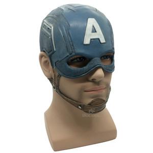 Máscara Capitão América Realista Superhero Halloween Máscara Filme DC Máscara De Látex Traje Cosplay Adereços Brinquedos
