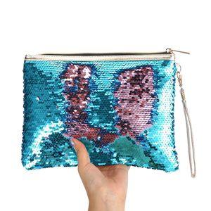 Hot Mermaid paillettes borse cosmetiche moda donna Novità Nuova busta femminile pochette Mermaid Paillettes borsa da sera Europa US fashion bag
