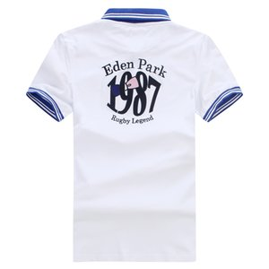 2019 New Eden Park Summer Best Selling Short-Polo-Männer Nizza Qualität Modedesign Homme POLO Beste Stickerei 95% Baumwolle Big Größe M bis 3XL