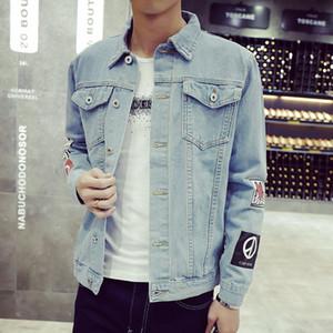 Giacca da uomo in denim di alta qualità Giacche di jeans alla moda Vestibilità slim Casual Streetwear Abbigliamento vintage da uomo Jean Taglie forti M -5xl