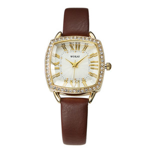 Square small water diamonds British exquisite small dial female table fine band bracelet watch female models