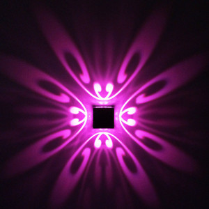 Moderno 1W 3W Mariposa LED Lámpara de Pared AC 85-265V Montado En La Pared Aplique de Aluminio Inicio Decoración Interior Iluminación KTV Party Bar Light