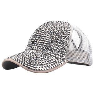 women hat summer Women Rhinestone Hat Female Baseball Cap breathable mesh Bling Diamond male baseball cap casquette homme A8