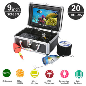 20M 1000TVL HD CAM 9inch Monitor Fish Finder Underwater Fishing Video Camera