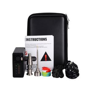 Titanio portátil enail uñas DAB eléctrico de temperatura PID Controller E Nail Dnail cera kit pipa vaporizador 16MM 20MM plataforma petrolífera dabber caja de cristal
