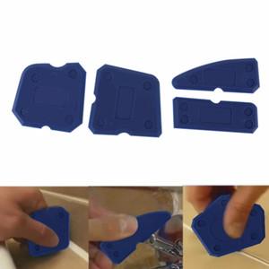 Calafetagem Kit de Ferramentas Vedante Conjunta de Silicone Borda Grout Remover Raspador 4 pcs Azul e Vermelho Ferramentas Manuais Combinação com o Caso PP + ABS