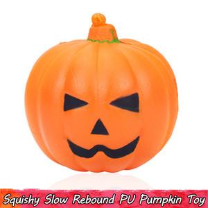 1 ШТ. Kawaii Pumpkin Squishy Toys Медленно растущие Squishies Сожмите игрушки для детей Декор для вечеринки Хэллоуин подарки для подростков Взрослые Ароматические украшения