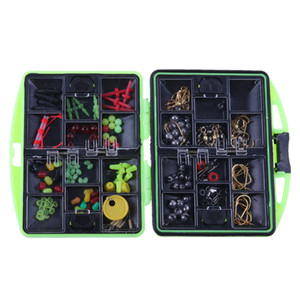 100pcs Outdoor Fishing Tackle Set Ocean Rock Fishing Supplies Hooks Beads Bait Accessories Kit Fishing Tool Tackle Boxes