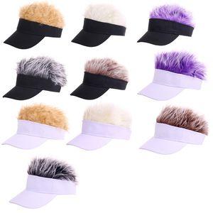 Novità Novità Parasole Cap Parrucca Cappello da baseball regolabile con visiera con pelo a spillo Visiera parasole da golf Cappello da corsa viseira