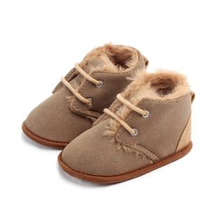 Baby Colid Baby-up Baby Boots Crossed Baby Shoes Сохраняйте теплый зимний милый мальчик плюшевые сапоги первые ходунки 0-18м