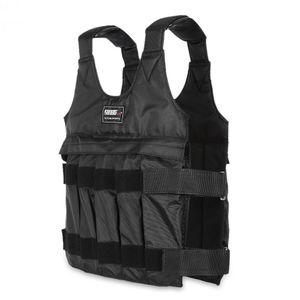 50 kgLoading Gewichtete Weste Für Boxing Lauftraining Körper Ausrüstung Einstellbare Übung Weste Schwarze Jacke Swat Sanda Sparring Schützen