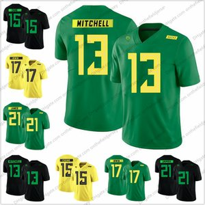 Oregon patos 2018 novo estilo # 13 Troy Hill 15 Patrick Chung 17 Mike Irwin 21 LaMichael James faculdade camisas de futebol S-3XL