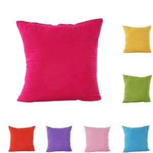 쿠션 커버 단색 pillowcase 다시 쿠션 커버 45x45cm 침실 장식 베개 케이스 베개 커버