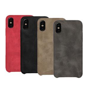 لينة حالة الهاتف الجلد لفون XS ماكس XR X 8 7 6 ريترو الحالات فاخرة الأعمال سامسونج S8 ملاحظة 9 HUAWEI P20