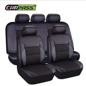 Car-pass Novo Couro Auto Car Seat Covers Tampa de assento de carro Universal Automotive para carro lada granta toyota nissan lifan x60