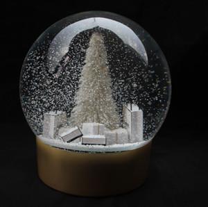 Árbol con nieve globo grande de la Navidad Dentro de Cristal de la nieve de la bola y de regalo de Navidad de la novedad de Regalos VIP Cliente