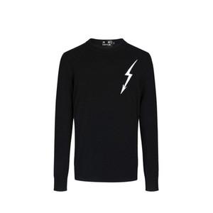 DUYOU Nuevo Diseñador de Lujo Suéteres de los hombres de los hombres de alta calidad de la marca de ropa Lightning Jacquard jersey informal suéter de Navidad