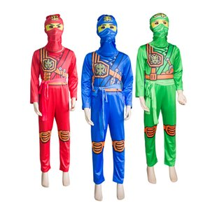 Cosplay Costume Boys Clothes Sets Children Halloween Fancy Party Dress Up Ninja Cosplay  Suits Boy Jumpsuits