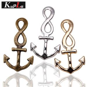 Intera venditaKupla Metallo Nautico Infinity Anchor Charms Gioielli FAI DA TE Fatti A Mano Anchor Pendente di Fascini per Gioielli 21 * 41mm 30 Pezzi C5246