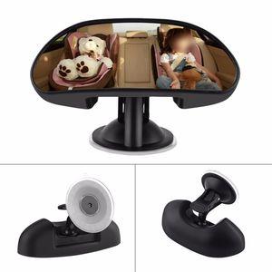 360 ° Ayarlanabilir Araba Bebek Çocuk Arka Koltuk Dikiz Emniyet Aynası Vantuz Ile Siyah Araba Arka Koltuk Çocuk Dikiz Aynası