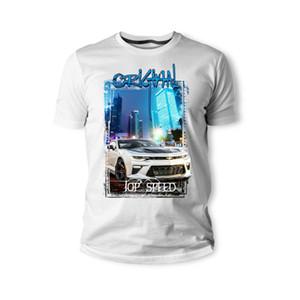 Футболка американский классический мышцы автомобиля Chevy Camaro 1LE Silber Schwarz авто Youngtimer 2018 новый бренд одежды мужчины прохладный О-образным вырезом