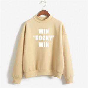 Sudaderas Mujer 2018 WIN WIN ROCKY BALBOA Повседневный печати Толстовка Женщина с длинным рукавом руно Пуловер толстовки Moletom NSW-12015