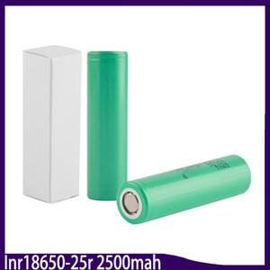 100% de alta calidad 25R 18650 batería INR 2500mAh 3.7V 20A de litio recargable para E Cig Box Mod 0269009