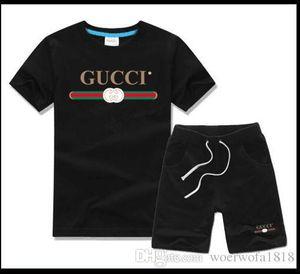 мальчик дети устанавливает дети футболка и брюки дети хлопок устанавливает мальчиков девочек летний костюм Baby спортивный костюм 2 шт. / компл.