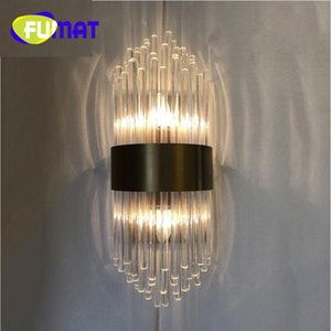 현대 크리스탈 흰색 벽 램프 금액 e14 허영 라이트 벽 조명을 아래로