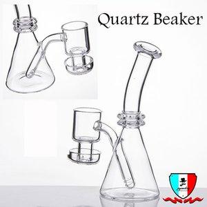 Quartz Beaker 5'' with terp vacuum banger quartz banger mini Water Pipe glass bong Dab rigs