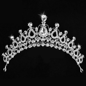 10 pcs a lot Brand New Bridal Wedding Crystal Rhinestone Hair Headband Crown Comb Tiara Prom Pageant Free Shipping HJ224