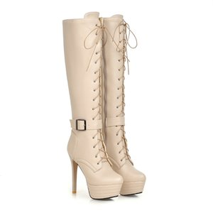 brand sexy autumn winter woman knee high boots platform ladies long boots super thin high heels platform riding boots woman shoes zx0371