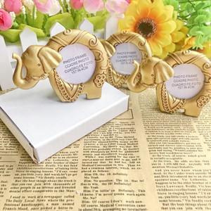 IL TRASPORTO LIBERO 200pcs / Lot Lucky Gold Elephant Photo Frame posto titolare della carta Indian Tema Festa di nozze Giveaway di ritorno per gli ospiti