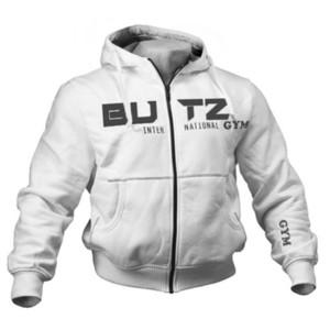 Lettre Mens Marque Designer Manteau D'hiver BUTZ GYM Imprimé Casual High Street Jacket Athlétique Coupe-Vent Mâle Cardigan Hoodies M-2XL