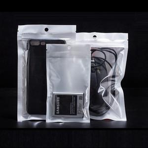 Weiß Klar Selbstdichtungs Plastikbaggies Einzelhandel Verpackung Poly Beutel Beutel Paket mit Fall-Loch