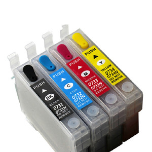 1Set T0731N-T0734N Empty Refillable Ink Cartridge Compatible For Epson Stylus TX200 TX410 TX400 Office TX300F Auto Reset Chip