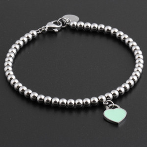 Hot  Titanium Steel Bracelets classic Jewelry Heart Bracelet For Women Charm  Bracelet pulseiras Jewelry
