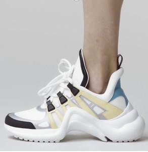 arc baskets en cuir légers formateurs de 2020 femmes pour hommes, femmes Kanye chaussures mode Ouest bottes en plein air avec boîte Casual
