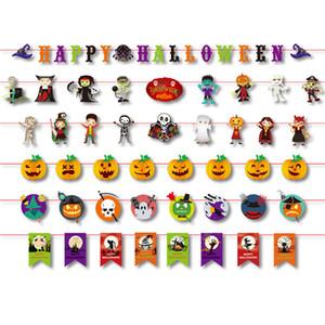 3M Хэллоуин бумага баннер Хэллоуин украшения тыква призрак череп флаг висит гирлянда овсянка баннер для украшения дома партии
