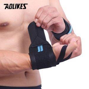 AOLIKES 1 PCS Apoio De Pulso Ginásio Levantamento De Peso Treinamento Luvas De Levantamento De Peso Bar Aperto Barbell Straps Wraps Proteção Das Mãos