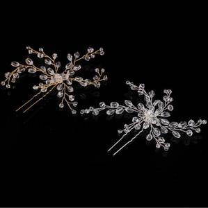 Crystal Bridal Kopfbedeckung, Haarnadel, handgemachte Perlenhaarschmuck, Brautkleid, Brautschmuck