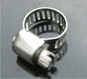 Wholesale Price, 5pcs lot, Stainless Steel Hose Buckle   Water Pipe Clamps   Clips Compatible with 8-12mm Tube