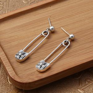 orecchini in stile americano argento antico design fatti a mano croce perone penzolare prigionieri 2018 nuovo 925 in argento d'epoca
