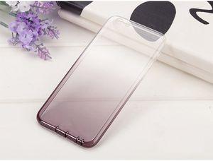Venta caliente Color degradado transparente Diseño TPU Silicona Fundas de teléfono Shell TPU Funda de silicona suave para IphoneX 8 7 6 Xs Máx.